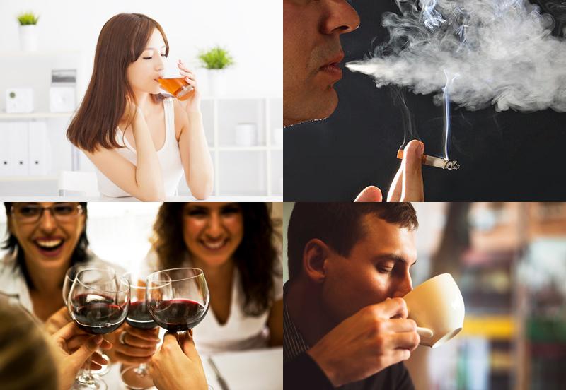 Uống rượu vang và uống trà